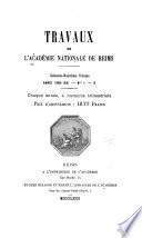 Travaux de l'Académie nationale de Reims