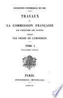 Travaux de la Commission française sur l'industrie des nations