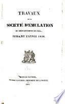 Travaux de la société d'émulation du Jura