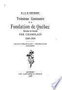 Troisième centenaire de la fondation de Québec