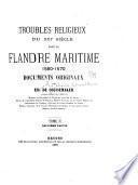 Troubles religieux du XVIe siècle dans la Flandre maritime, 1560-1570