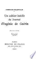 Un cahier inédit du journal d'Eugénie de Guérin