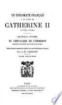 Un diplomate français à la cour de Catherine II, 1775-1780