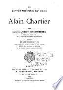 Un écrivain national au XVe [i.e. quinzième] siècle, Alain Chartier