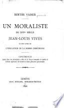 Un moraliste du XVIme.siècle