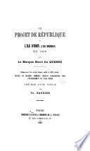 Un projet de république à l'île d'Eden (l'île Bourbon en 1689 par le marquis Henri Du Quesne