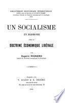 Un socialisme en harmonie avec la doctrine économique libérale