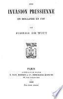 Une invasion prussienne en Hollande en 1787