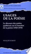 Usages de la poésie