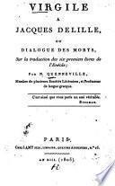 Vergile à Jacques Delille, ou dialogue des morts