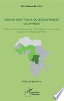 Vers un droit fiscal de développement de l'Afrique