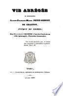 Vie abrégée de Mgr Claude-François-Marie Petit-Benoit de Chaffoy, évêque de Nismes