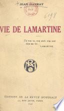 Vie de Lamartine