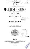 Vie de Marie-Thérèse de France fille de Louis XVI