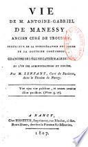 Vie de Mr. Antoine-Gabriel de Manessy...