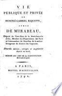 Vie publique et privée de Honoré-Gabriel Riquetti, Comte de Mirabeau