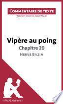 Vipère au poing d'Hervé Bazin - Chapitre 20