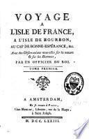 Voyage à l'isle de France, à l'isle de Bourbon, au cap de Bonne-Espérance &c