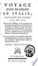 Voyage d'un François en Italie