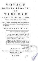 Voyage dans la Troade, ou tableau de la plaine de Troie dans son état actuel