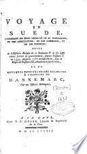 Voyage en Suède contenant un état détaillé de sa population, de son agriculture, de son commerce et de ses finances