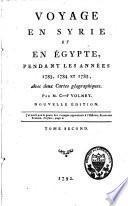 Voyage en Syrie et en Egypte