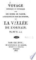 Voyage historique et pittoresque sur les ruines de Nasium, à Bar-le-Duc et dans ses environs