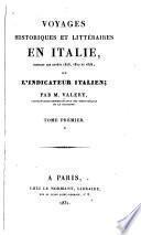 Voyages historiques et littéraires en Italie