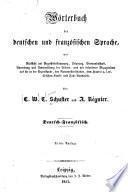 Wörterbuch der deutschen und französischen sprache