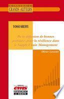 Yossi Sheffi - De la diffusion de bonnes pratiques pour la résilience dans le Supply Chain Management