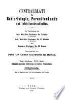 Zentralblatt für Bakteriologie, Parasitenkunde, Infektionskrankheiten und Hygiene